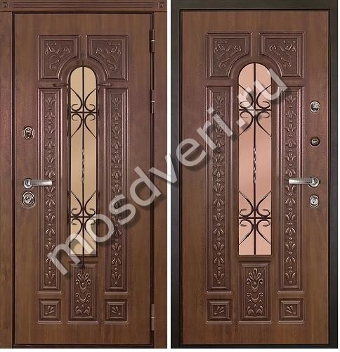 входные элитные двери со стеклом в москве