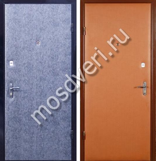 металлическая дверь эконом класса с дермантином цена