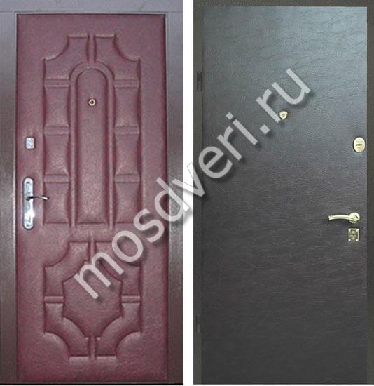стоимость дермантина на стандартную входную дверь
