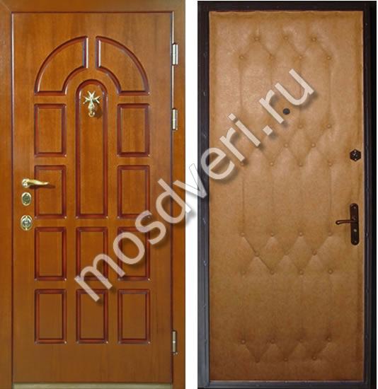 входные уличные двери с отделкой винилискожей для котеджа