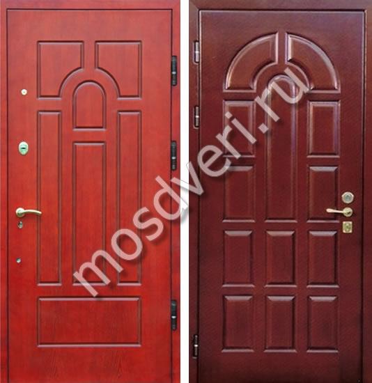 двери входные красного цвета