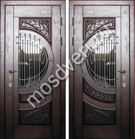 элитные входные двери с отделкой кожей