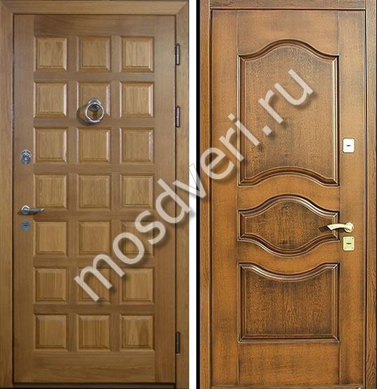 стальные двери с отделкой массив дерева