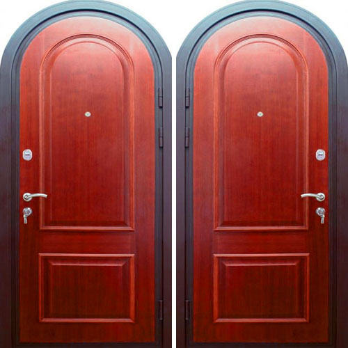 арочная металлическая дверь отделка пвх