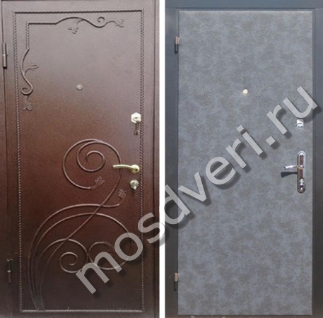 купить металлическую порошковую дверь под заказ в москве