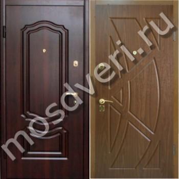 купить недорогую металлическую с двух сторон входную уличную дверь
