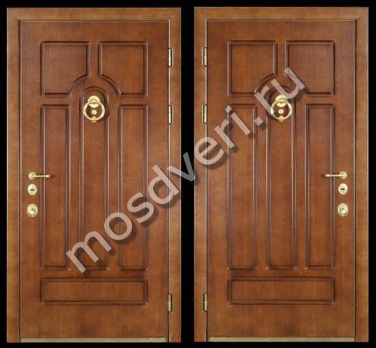 входная дверь обшитая массивом