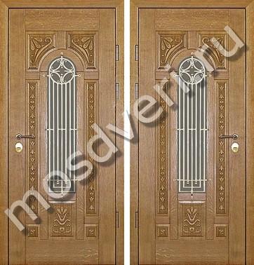 входная дверь с резьбой